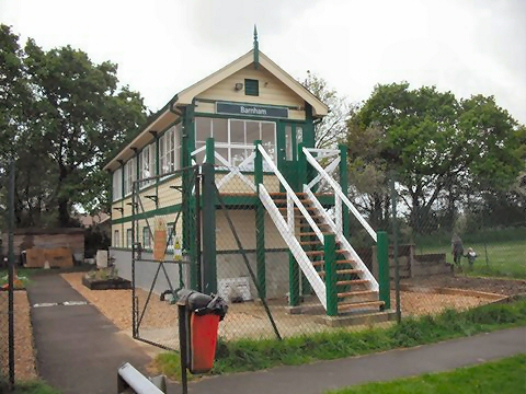 Barnham Signal Box close to completion